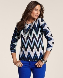 Graphic Zig Aria Top