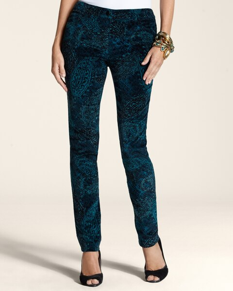 Velveteen Paisley 5-Pocket Pants