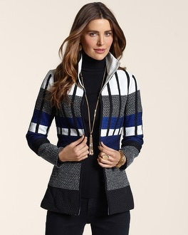 Striped Sophistication Jacket