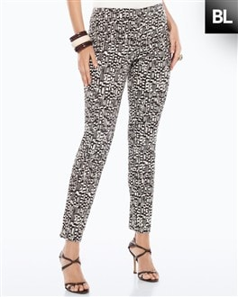 Black Label Print Sateen Ankle Pant