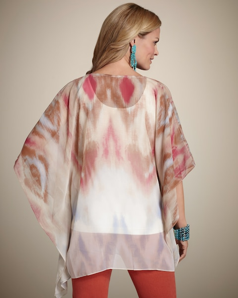 Watercolor Dance Peri Poncho