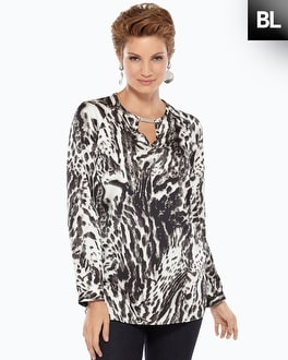 Black Label Animal Print Blouse