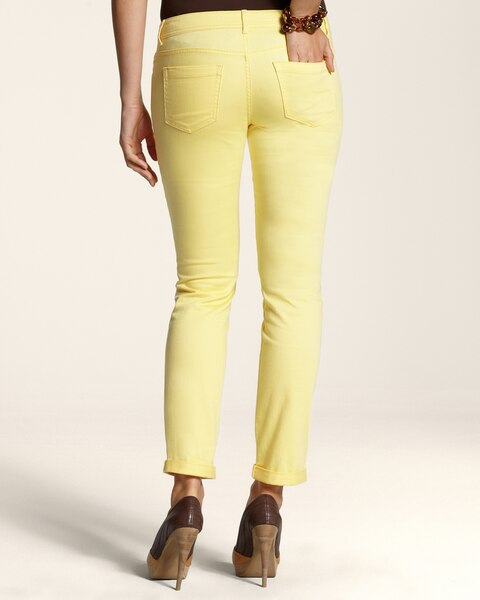 Platinum Denim Roll Cuff Ankle Jeans  in Chamomille