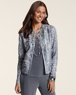 Travelers Collection Stunning Sequin Jacket