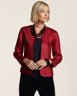 Travelers Collection Basketweave Jacket