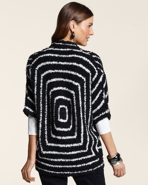 Optic Geo Striped Cocoon Sweater