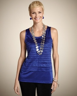Travelers Collection Pleated Tank