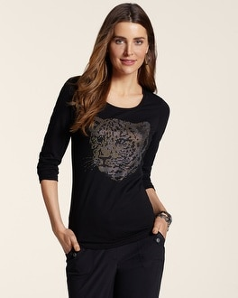 Zenergy Bailey Animal Studded Tee