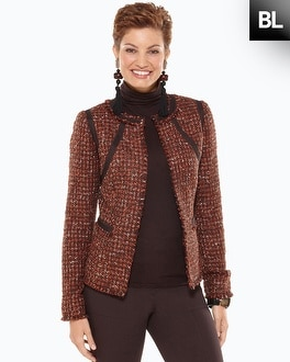 Black Label Tweed Fringe Jacket