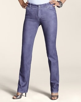 Platinum Denim Novelty Slim-Leg Jean