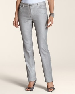 Platinum Denim Novelty Silver Slim-Leg Jean