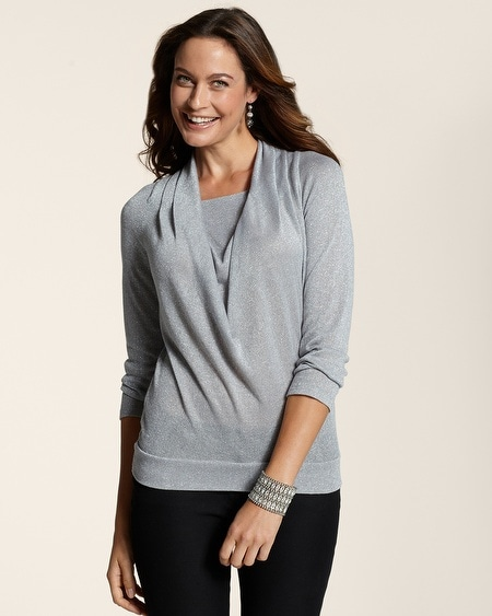 Lurex Carly Cowl Sweater