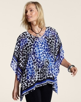 Travelers Collection Scarf Print Sinclair Top