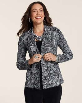 Travelers Collection Crushed Paisley Jacket