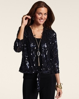 Travelers Collection Sequin Ginger Jacket