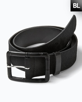 Black Label Haircalf Belt