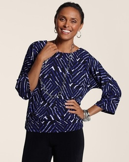 Travelers Classic Broken Stripe Dolman Top