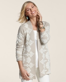 Graphic Blossom Cardigan