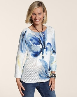 Watercolor Blossom Mariella Pullover Sweater