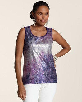 Colored Shine Sequin Tank