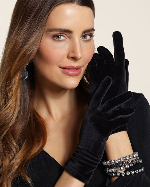 Black Velvet Winter Glove
