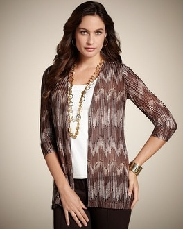 Travelers Collection Chevron Mesh Jacket