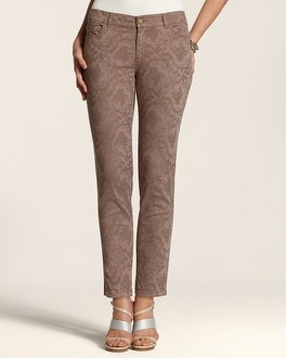 Jacquard 5-Pocket Ankle Pant