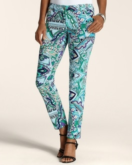 Mosaic Print 5-Pocket Ankle Pant