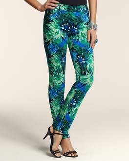 Tropical Palms 5-Pocket Ankle Pant
