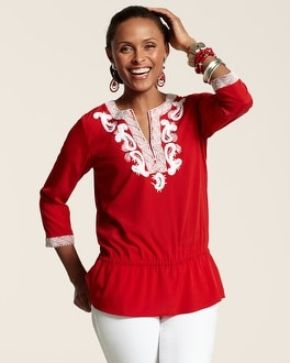 Rouge Soutache Grace Top