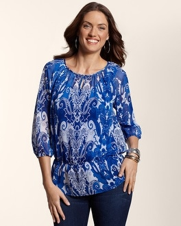 Midnight Paisley Claire Top