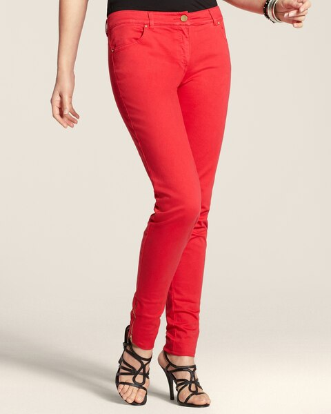 Casual Sateen Zip Pants