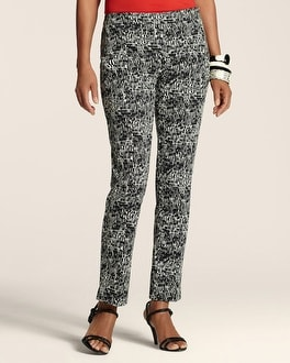 Graphic Print Side-Zip Ankle Pant