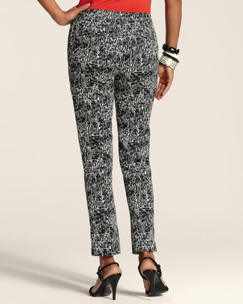 Graphic Print Side-Zip Ankle Pants