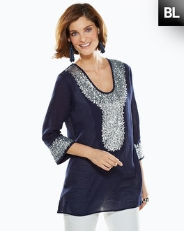 Black Label Silver Sequin Tunic