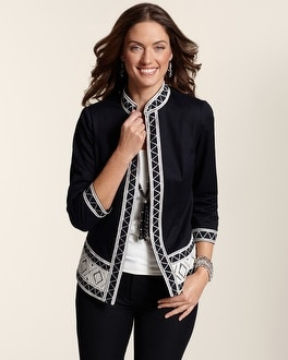 Artisan Tapestry Trim Jacket