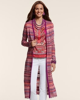 Stylish Zig-Zag Carly Duster