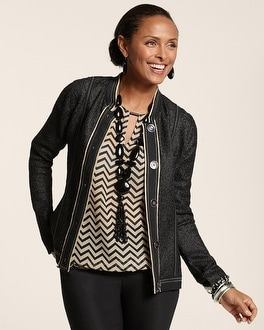 Textured Piped Jacket