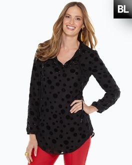 Black Label Burnout Blouse