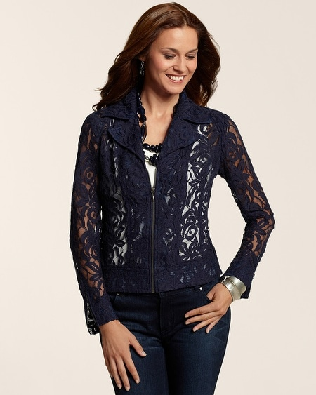 Colored Lace Moto Jacket