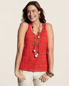 Embroidered Geo Tank