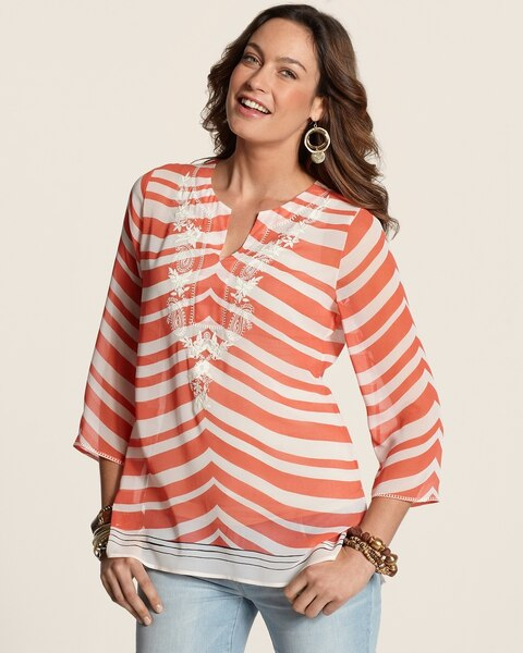 Swirley Stripes Sarah Top