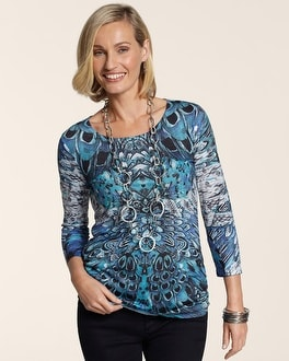 Feather Attraction Ruched Raye Top