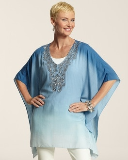 Beaded Biarritz Poncho