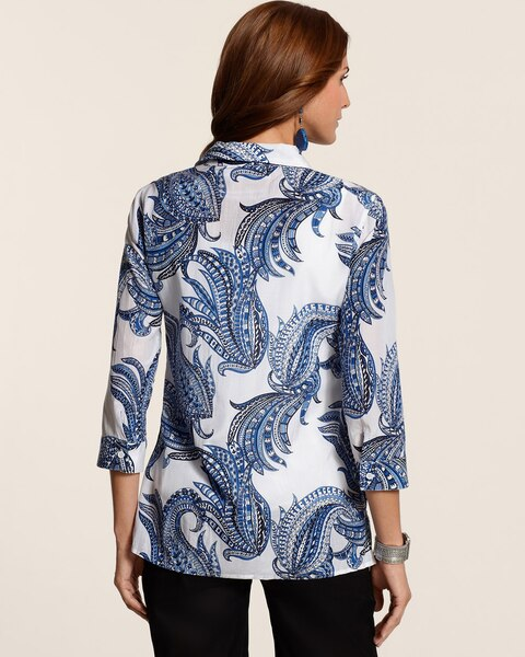 Crinkled Paisley Alyssa Top