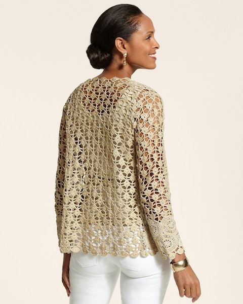 Glam Crochet Cardigan