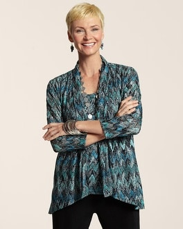 Travelers Collection Chevron Stitch Jacket