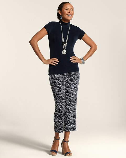 Abstract Dot Carm Crop Pants
