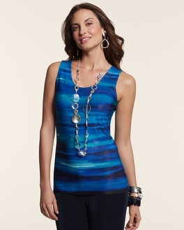 Travelers Classic Ombre Wave Contemporary Tank