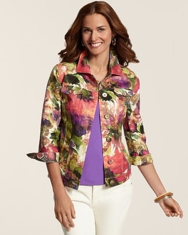 Atalia Watercolor Floral Jacket